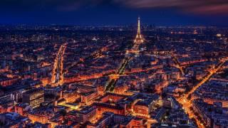 night time paris