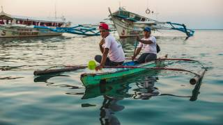 philippine fishermen on a calm sea
