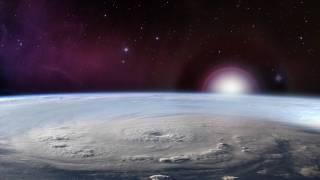 typhoon over the earth