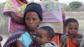young mother and children in africa