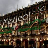 Mexico sign on building