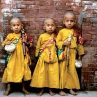 3 boys in native nepal dress