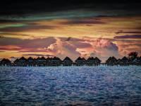 pacific islands sun set