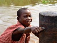 young boy in the DRC