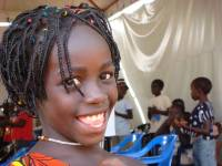 young Guinea african girl smiling