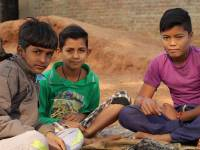 poor children hoping for a better future
