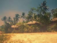 thailand village on tropical beach